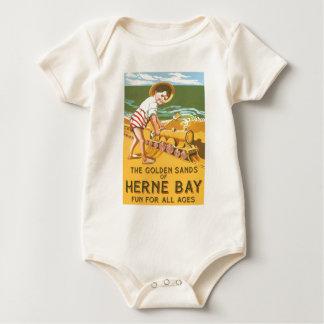 Vintage English Travel Poster Baby Bodysuit