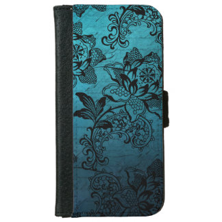 Vintage Engraved Roses and Lace iPhone 6 Wallet Case