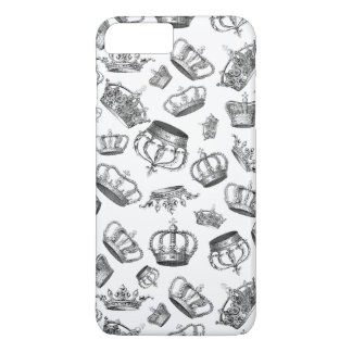 Vintage Engraved Royal Crowns iPhone 8 Plus/7 Plus Case