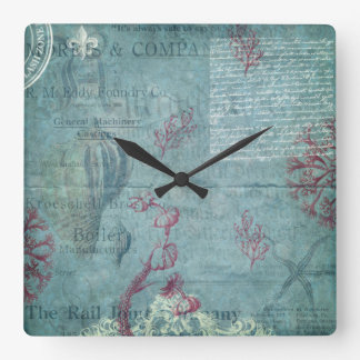 Vintage Engraved Seashell Wall Clock