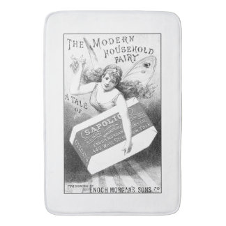 Vintage Engraved Soap Ad Typography Bath Mat