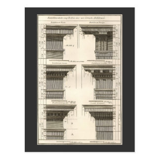 Vintage Entablatures, Orders of Architecture Postcard