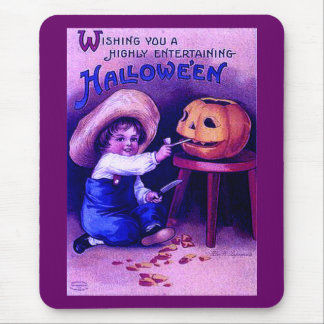 Vintage Entertaining Halloween Mouse Pad