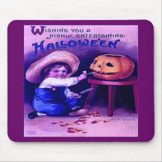 Vintage Entertaining Halloween Mouse Pad
