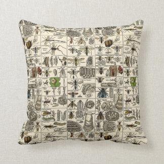 Vintage Entomology Throw Pillow