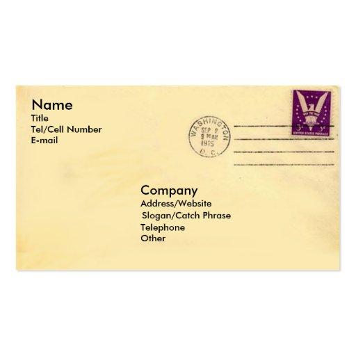 Vintage Envelope Business Cards