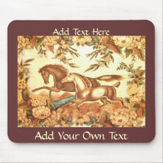 Vintage Equestrian Horse Mousepad 2 add text