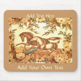 Vintage Equestrian Horse Mousepad