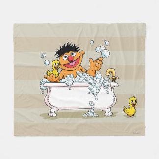 Vintage Ernie in Bathtub Fleece Blanket