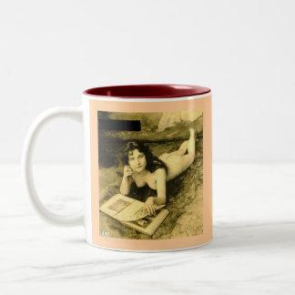 Vintage Erotica Two-Tone Coffee Mug