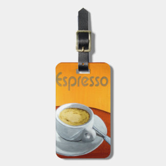 Vintage Espresso Coffee Luggage Tag