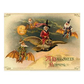Vintage Ethereal Halloween Postcard