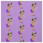 Vintage Ethnic Little Princess Purple Fabric