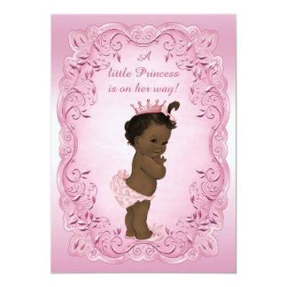 Vintage Ethnic Princess Fancy Pink Baby Shower 13 Cm X 18 Cm Invitation Card