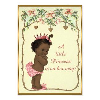 Vintage Ethnic Princess Roses & Hearts Baby Shower 13 Cm X 18 Cm Invitation Card