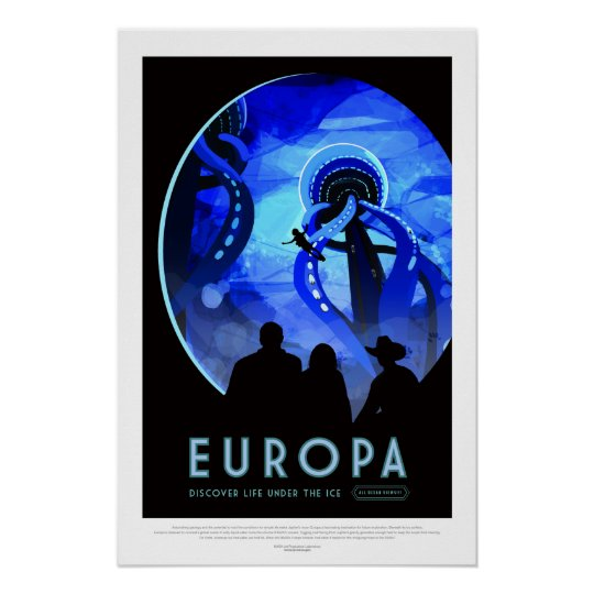 Vintage Europa Life Under the Ice Space Travel