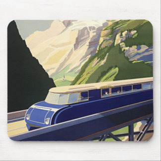 Vintage Europe Rail Travel Mouse Pad