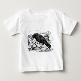 Vintage European Carrion Crow Bird Crows Birds Baby T-Shirt