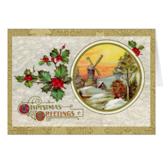 Vintage European Christmas Card