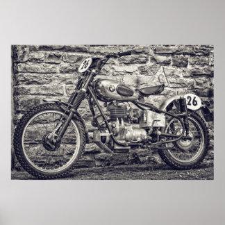 Vintage European Motocross Motorcycle Poster