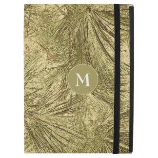 vintage evergreen branches camouflage monogram