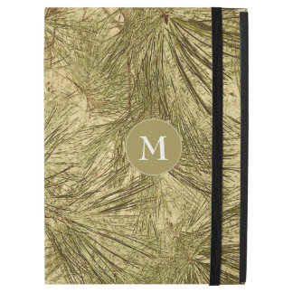"vintage evergreen branches camouflage monogram iPad pro 12.9"" case"