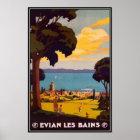 Vintage Évian-les-Bains, Rhône-Alpes, France - Poster