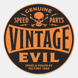 Vintage Evil 002B Round Sticker
