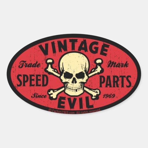 Vintage Evil 007C Oval Stickers