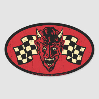 Vintage Evil 009C Oval Sticker
