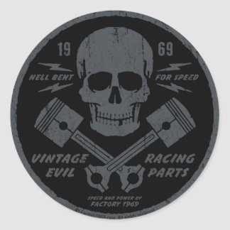 Vintage Evil 012A Classic Round Sticker