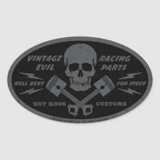 Vintage Evil 012A Oval Sticker