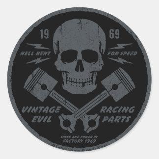 Vintage Evil 012A Round Sticker