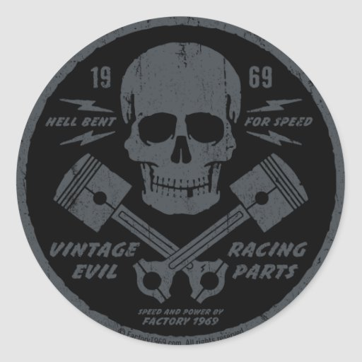 Vintage Evil 012A Sticker