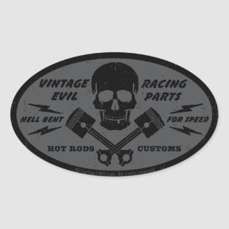 Vintage Evil 012B Oval Sticker