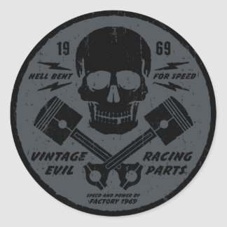 Vintage Evil 012B Round Sticker