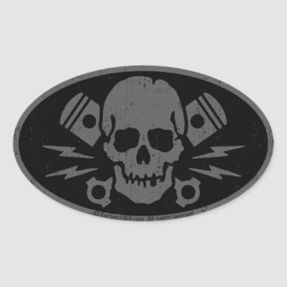 Vintage Evil 015A Oval Sticker