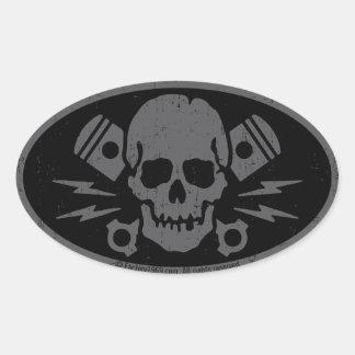 Vintage Evil 015A Oval Stickers