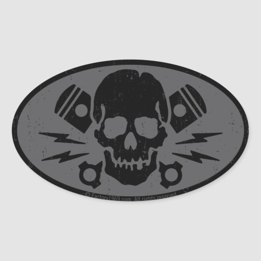 Vintage Evil 015B Oval Stickers