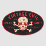 Vintage Evil 016A Oval Stickers