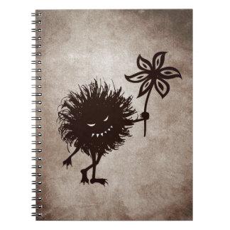 Vintage Evil Bug Gives Flower Note Book