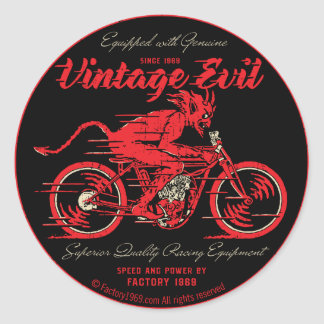 Vintage Evil VE018A Round Sticker