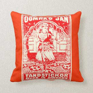 Vintage Exotic Woman Throw Cushions