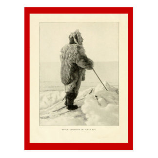 Vintage explorers, Roald Amundson in Polar gear Postcard