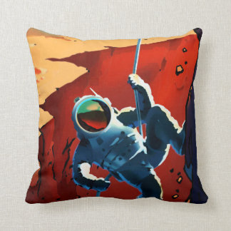"Vintage ""Explorers Wanted"" Mars Recruitment Cushion"