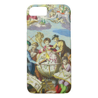 Vintage Explorers with Antique Globe Map, 1542 iPhone 7 Case