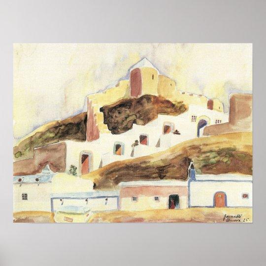 Vintage Expressionism, Almeria by Walter Gramatte Poster