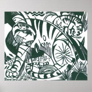 Vintage Expressionism Art, Tiger by Franz Marc Poster