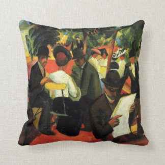 Vintage Expressionism, Garden Restaurant by Macke Throw Cushions