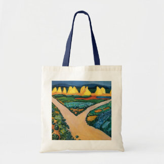 Vintage Expressionism, Vegetable Fields by Macke Budget Tote Bag